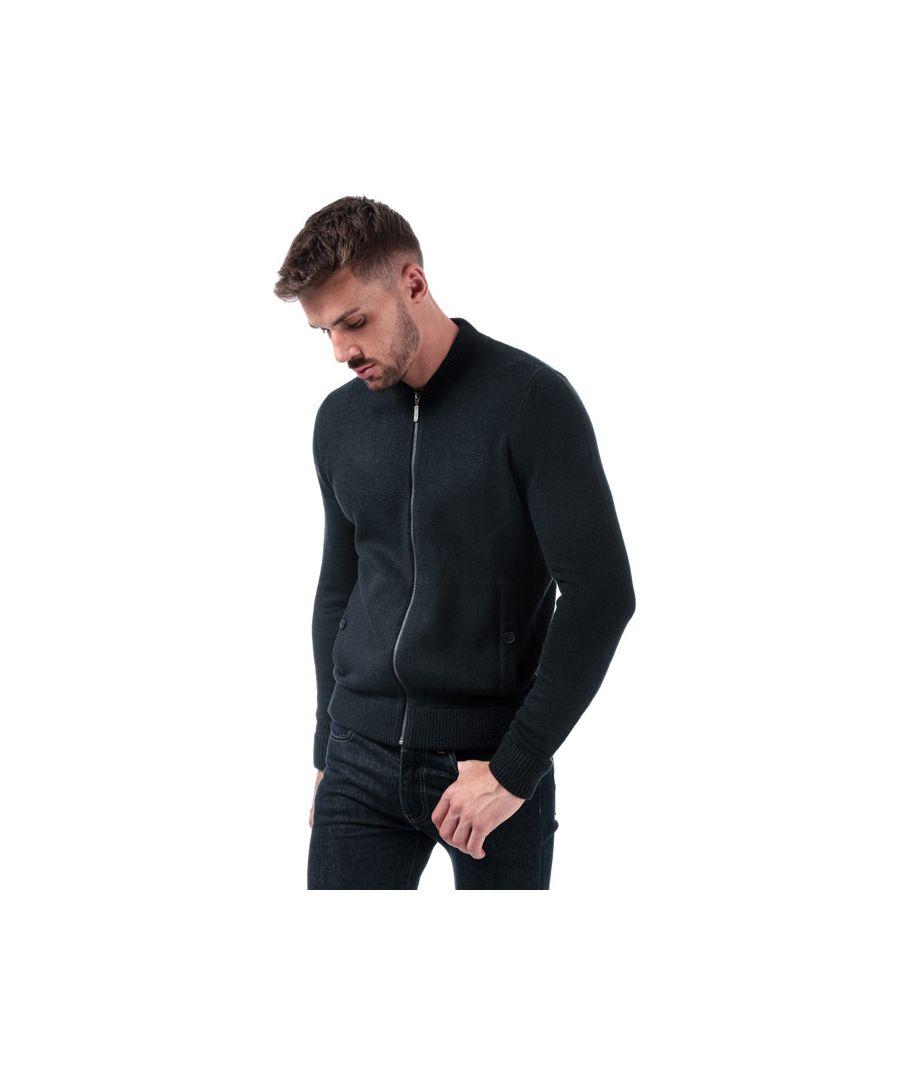 Image for Men's Ben Sherman Zip Through Knit Cardigan in Navy