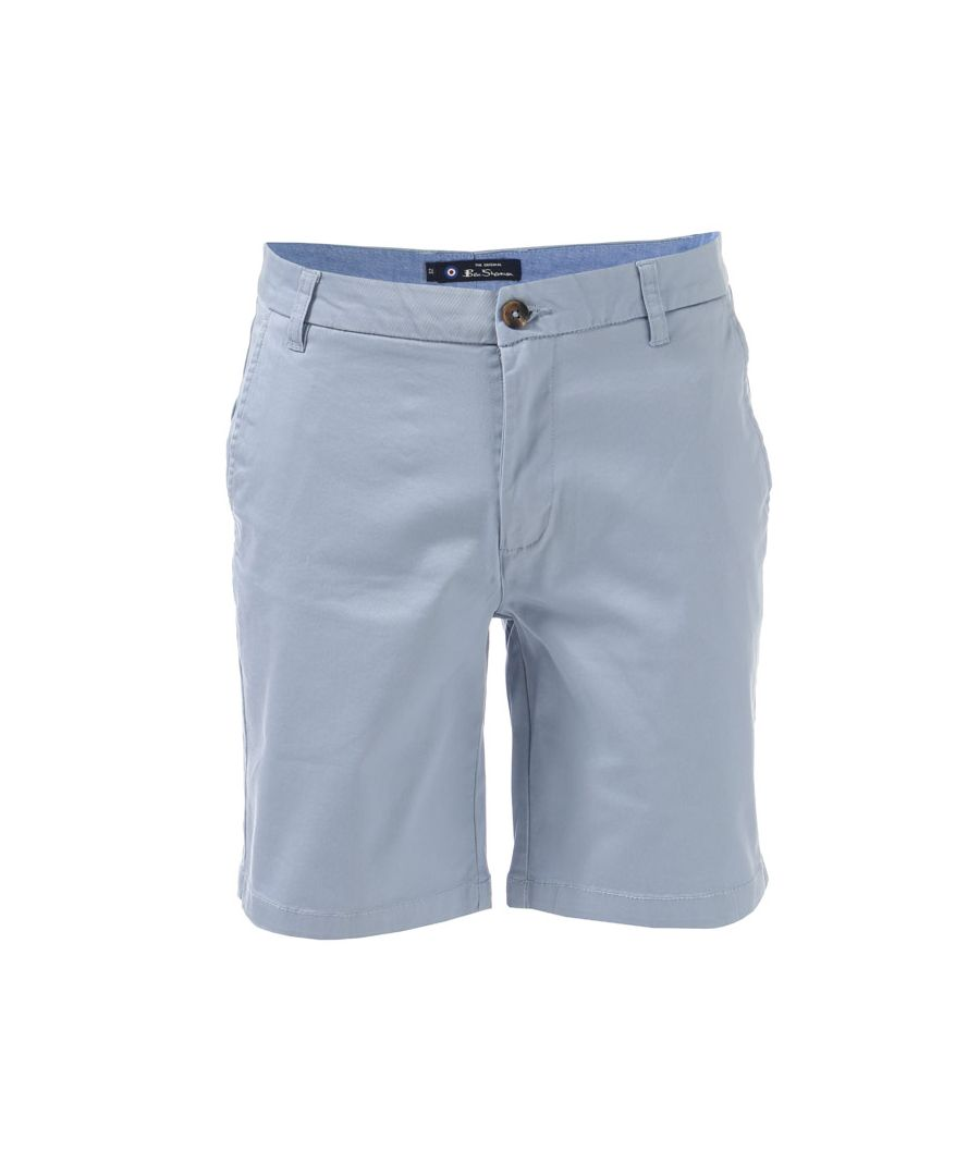 Image for Men's Ben Sherman Stretch Chino Short in sky