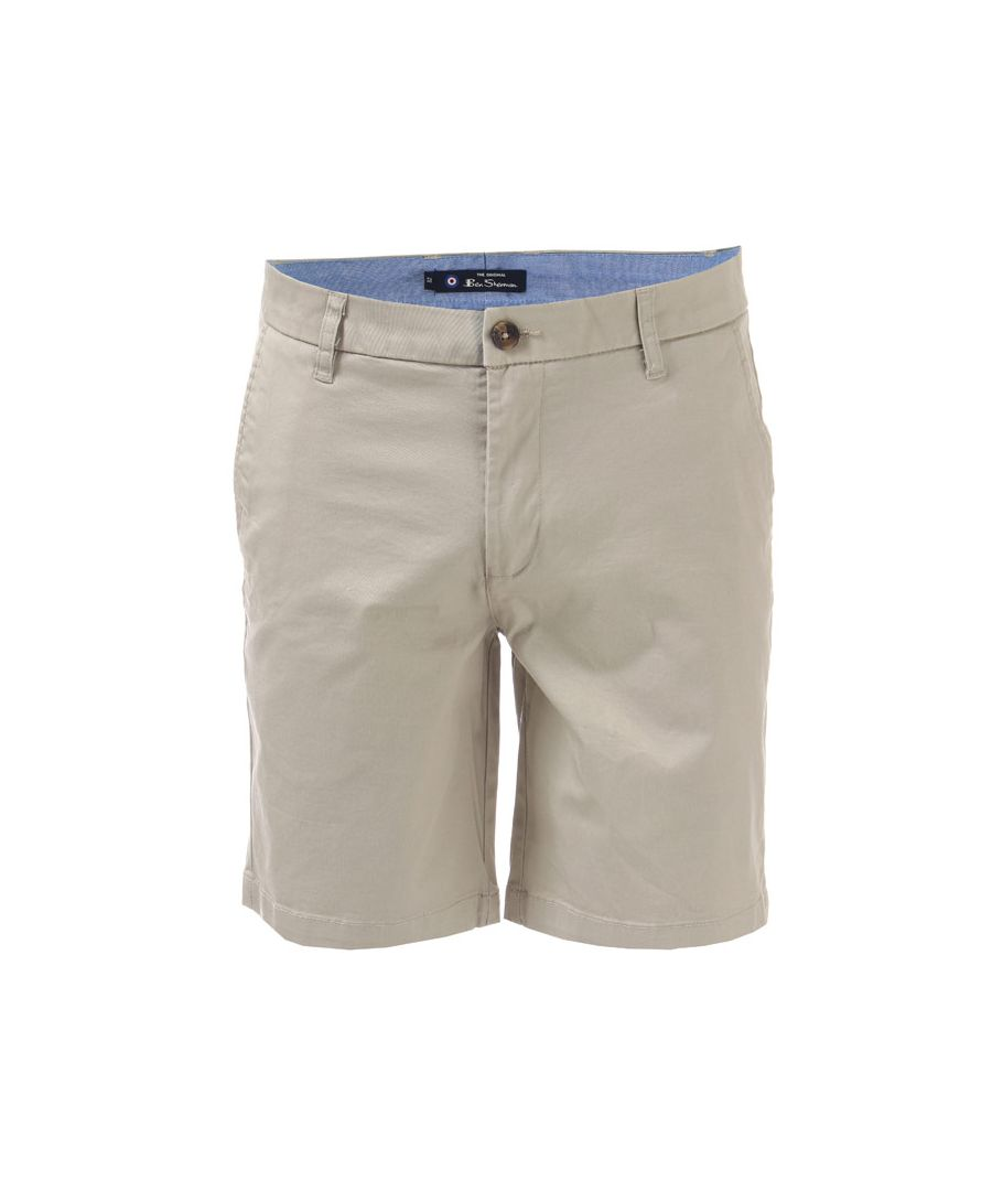 Image for Men's Ben Sherman Stretch Chino Short in Stone