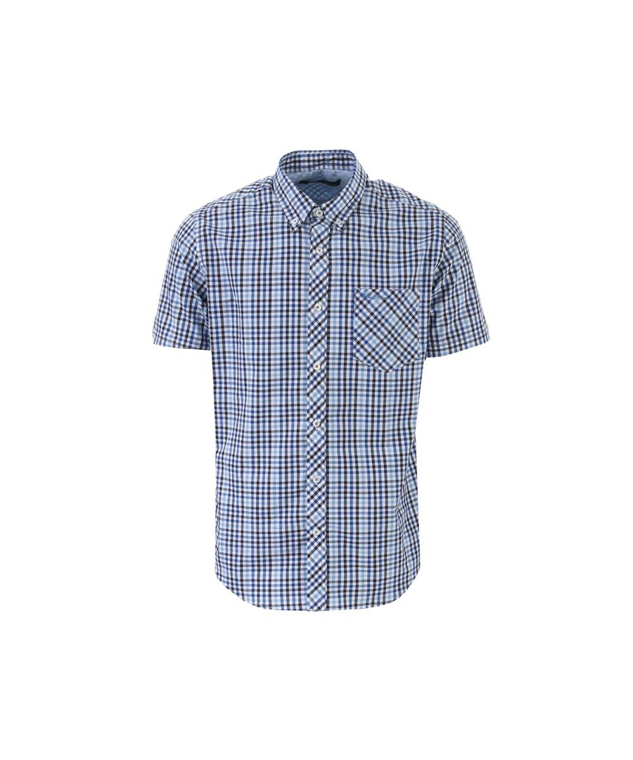 Image for Men's Ben Sherman SS House Check Shirt in Blue