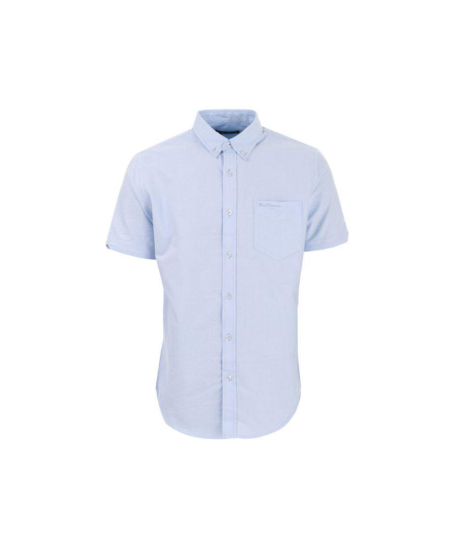 Image for Men's Ben Sherman Oxford Short Sleeve Shirt in sky