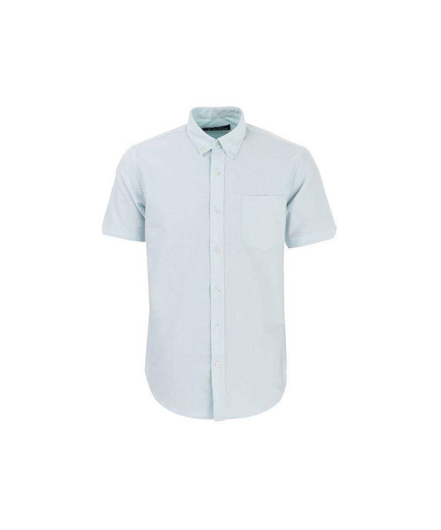 Image for Men's Ben Sherman Oxford Short Sleeve Shirt in Mint