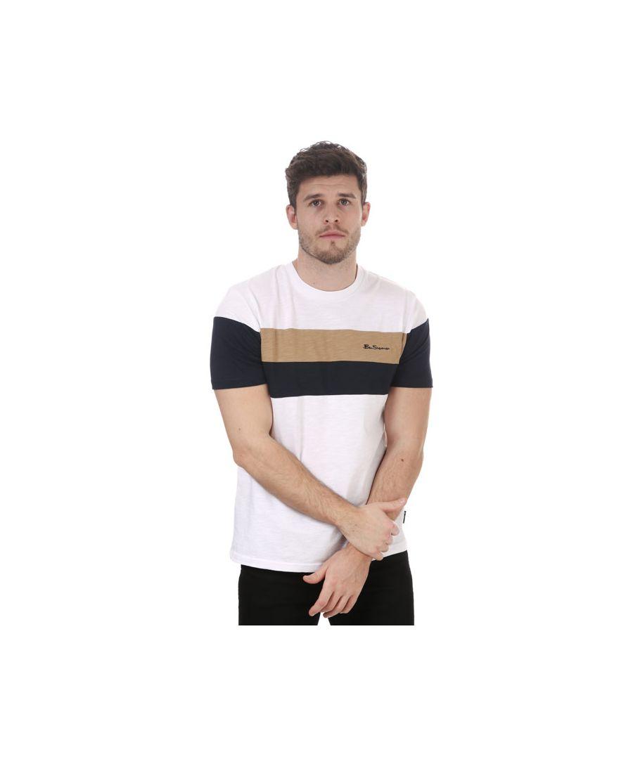 Image for Men's Ben Sherman Heritage Sports Block T-Shirt in White