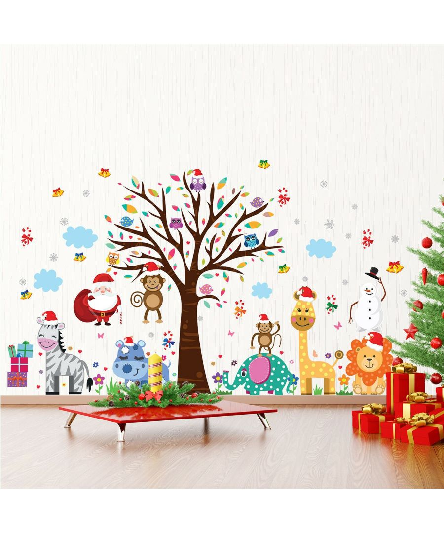 Image for WFXC12214 - WS3324 + WS9053 - Christmas at the Zoo Wall Stickers