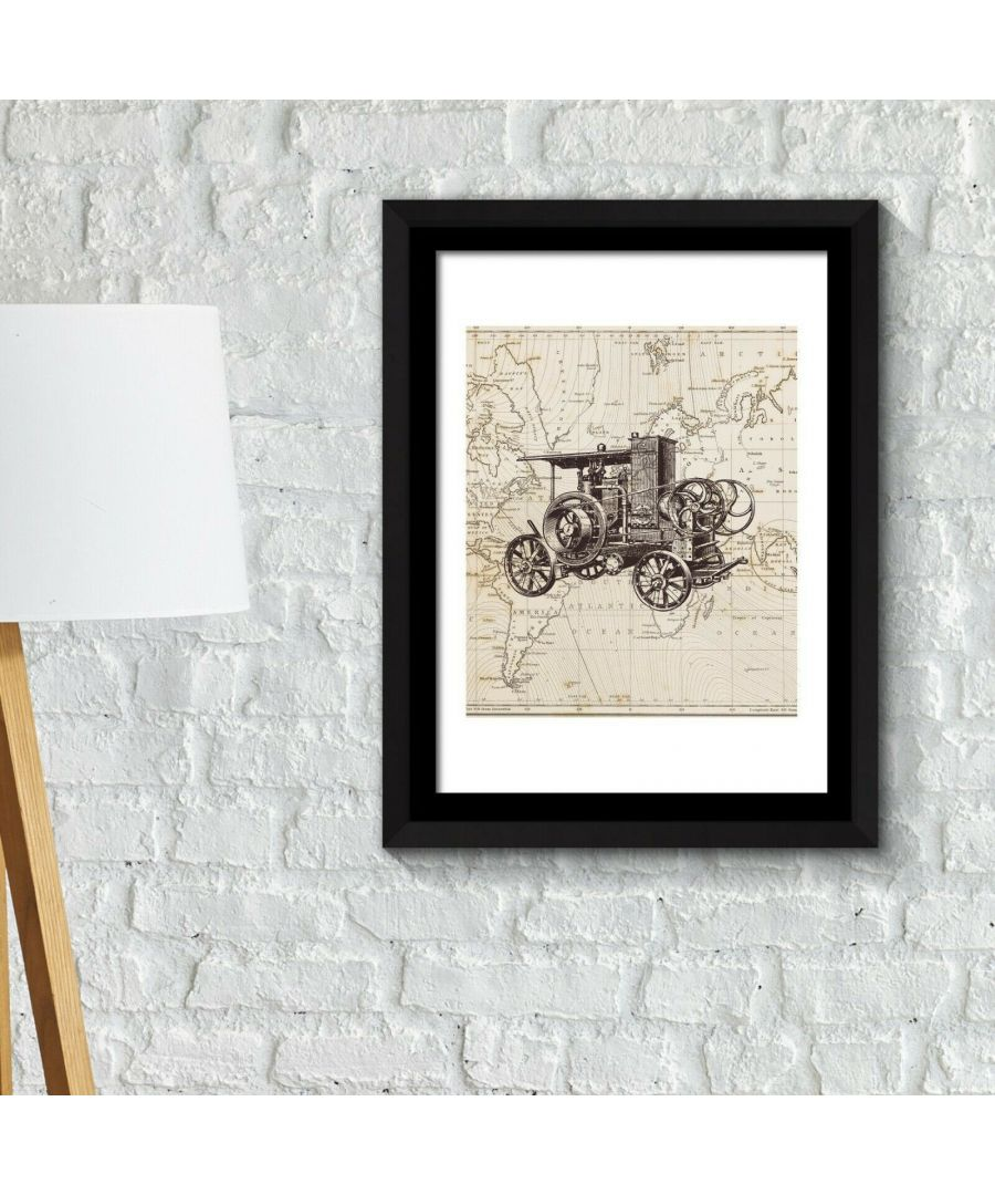 Image for Framed Art 2in1 Classic Car Poster Framed Photo, Framed Art