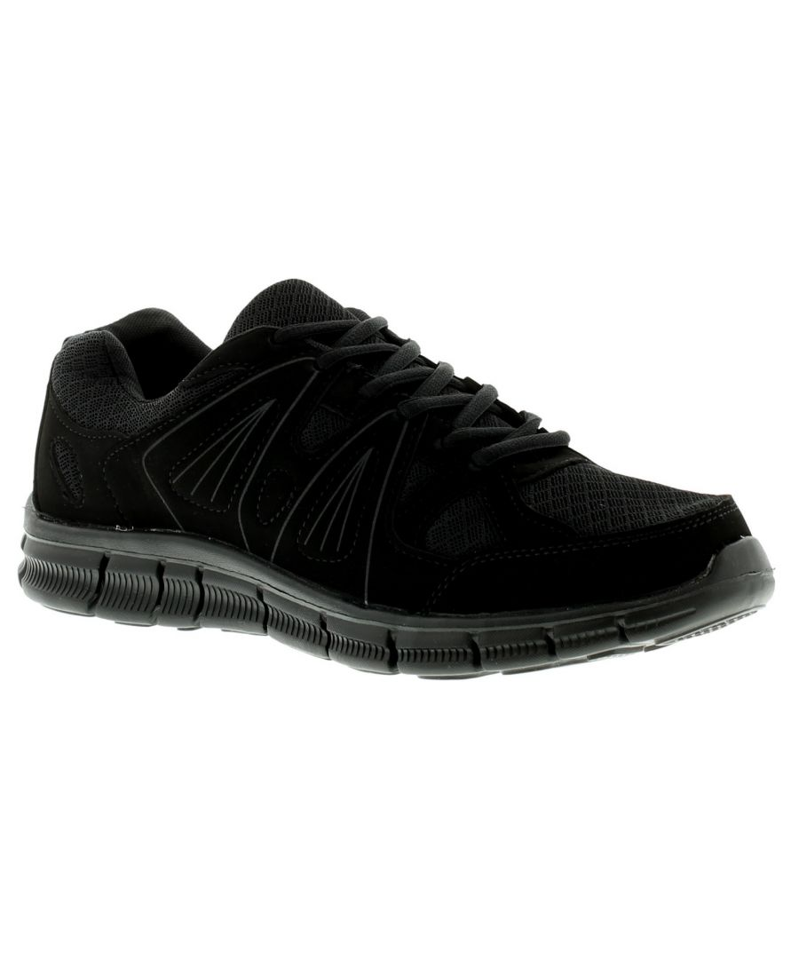 Image for New Mens/Gents Black Lace Ups Lightweight Trainers