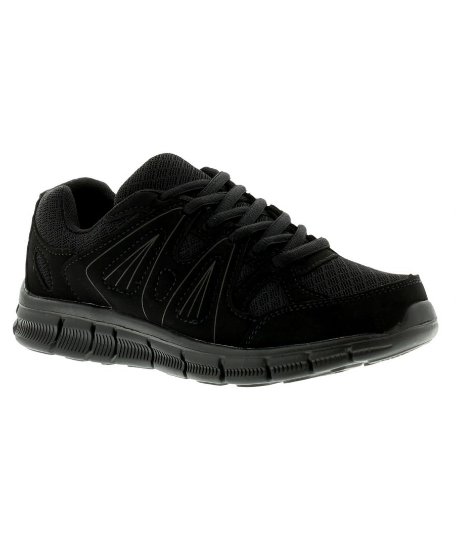 Image for New Older Boys/Childrens Black Lace Ups Pumps/Trainers