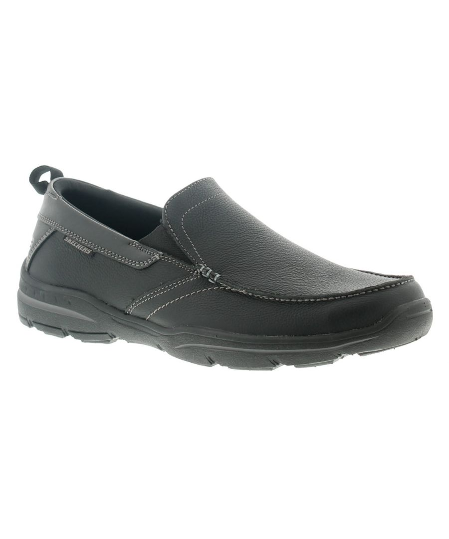 Image for Skechers Harper Forde Mens Leather Casual Shoes Black