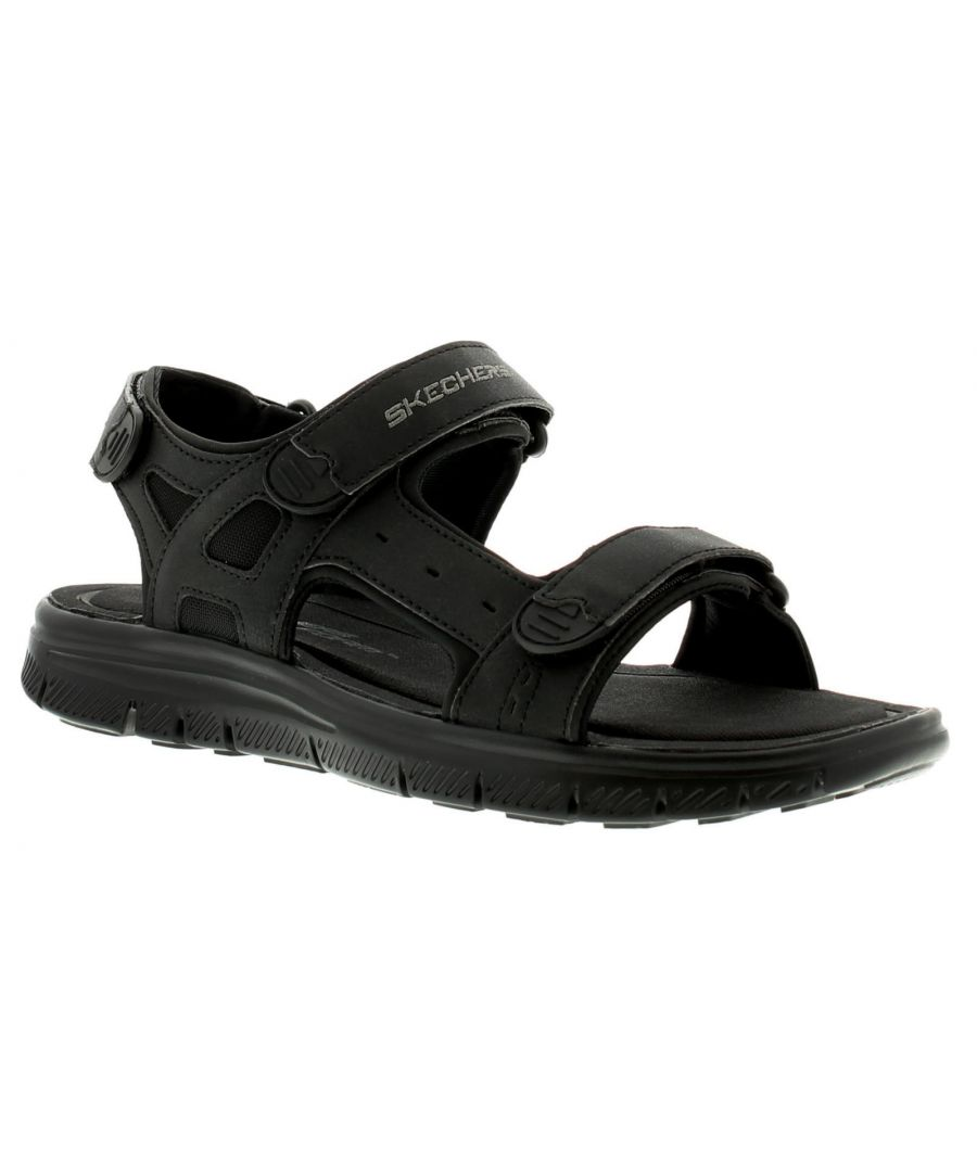 Image for Skechers Flex Advantage S Upwell Mens Casual Sandals Black