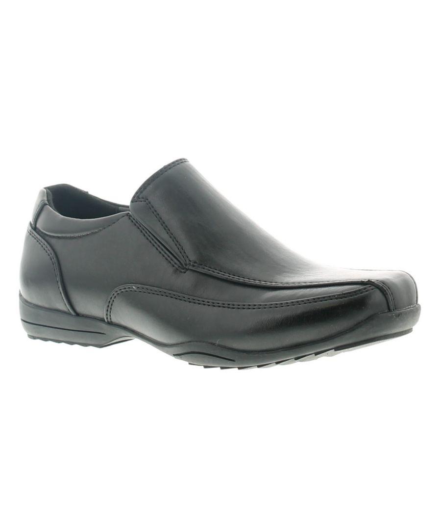 Image for Rockstorm Andre Boys Kids School Shoes Black