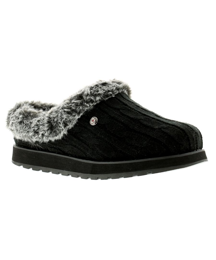 Image for Skechers Keepsakes Ice Angel Womens Ladies Mule Slippers Black