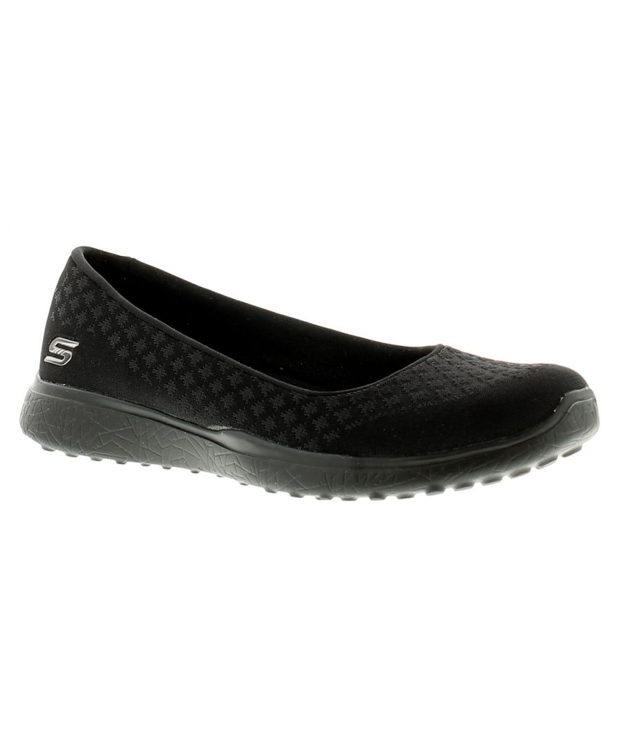 Image for Skechers Microburst One Up Womens Ladies Flats Shoes Black