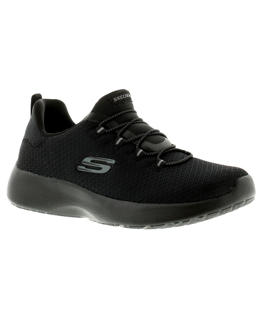 Image for Skechers Dynamight Womens Ladies Trainers Black/Black