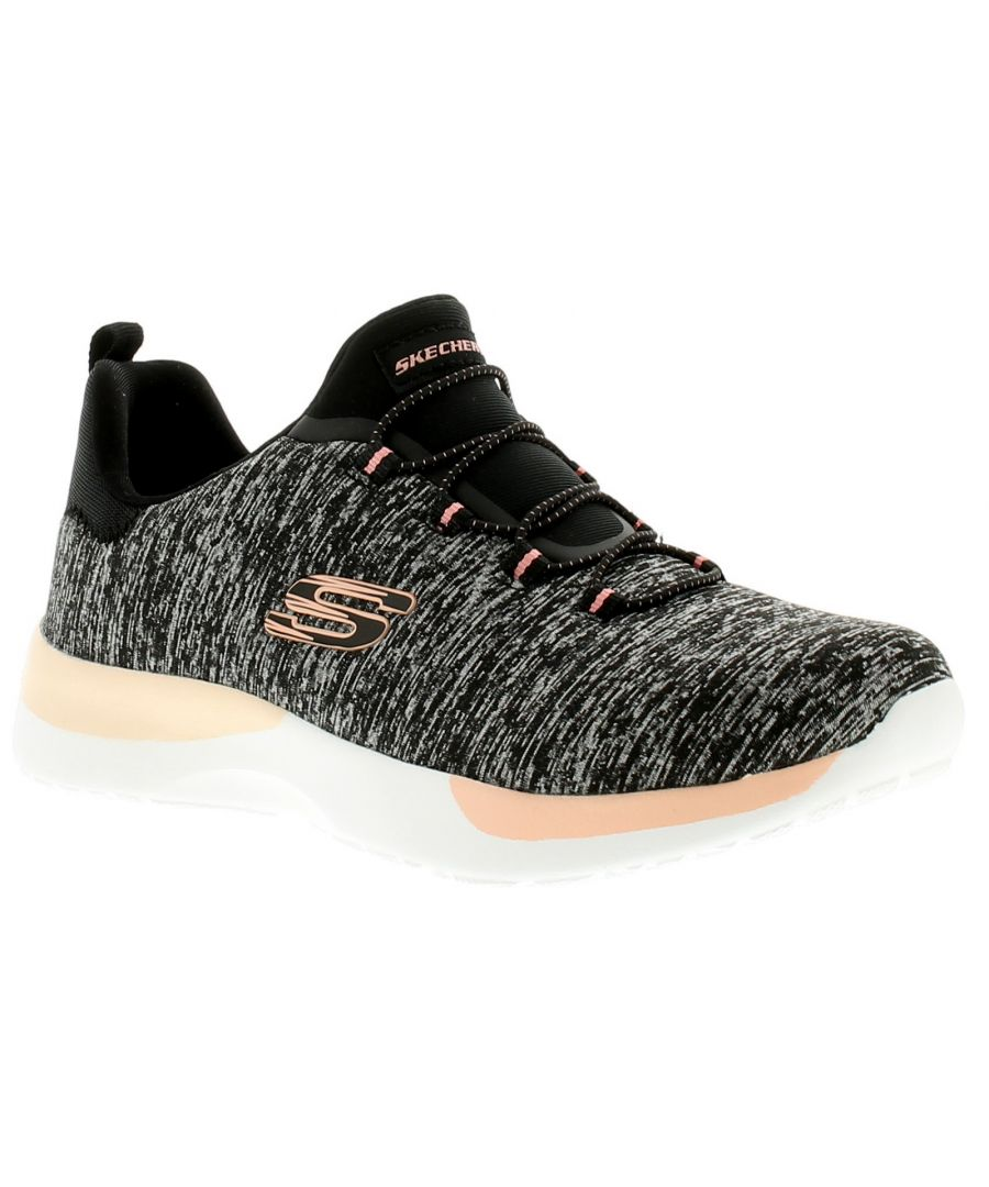 Image for Skechers Dynamight Break Thro Womens Ladies Trainers Black/Coral
