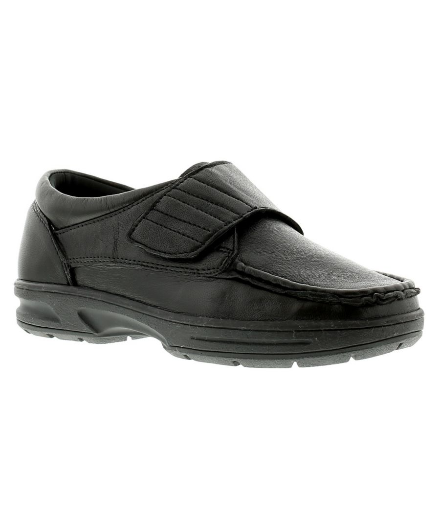 Image for Dr Keller Texas Mens Leather Casual Shoes Black