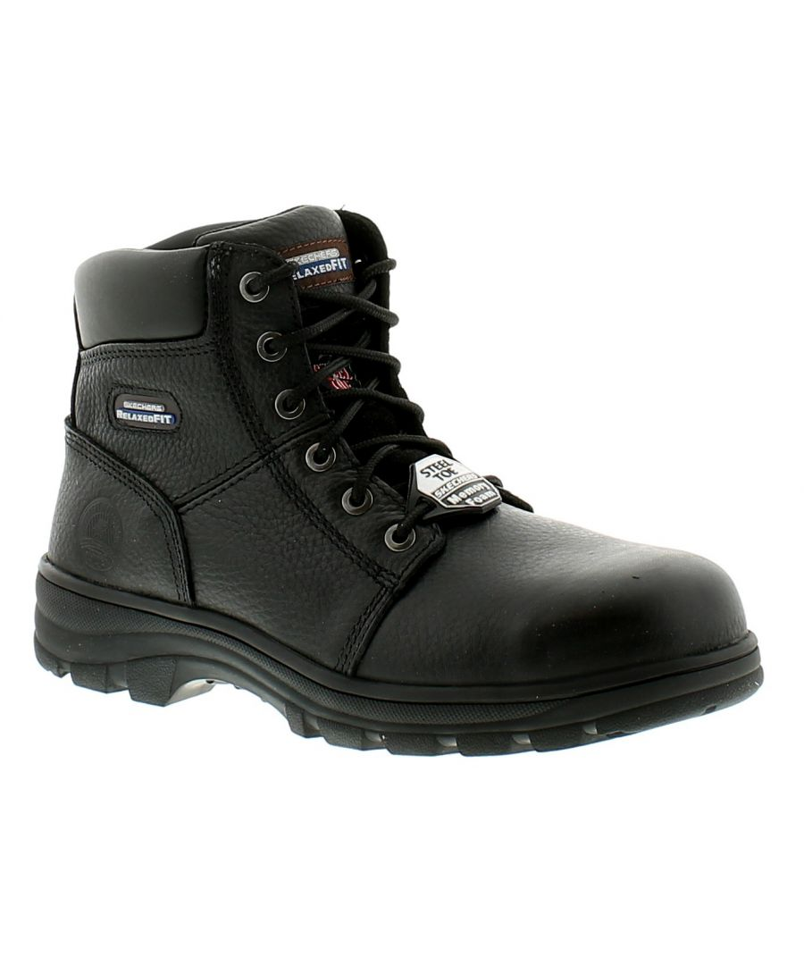 Image for Skechers Workshire Mens Leather Safety Boots Black