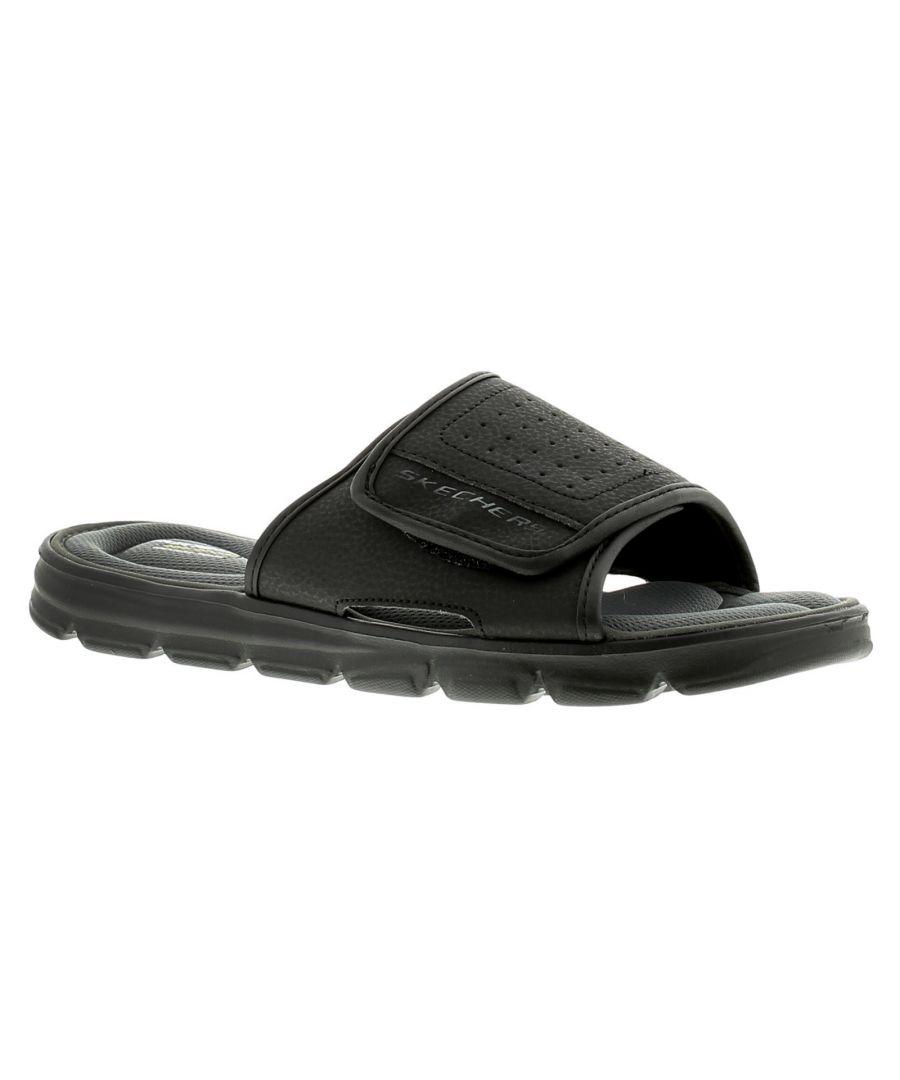 Image for Skechers Wind Swell Mens Flip Flops Beach Sandals Black