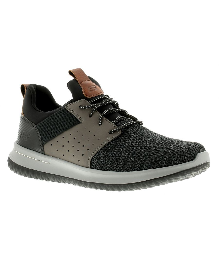 Image for Skechers Delson Camben Mens Trainers Black/Grey