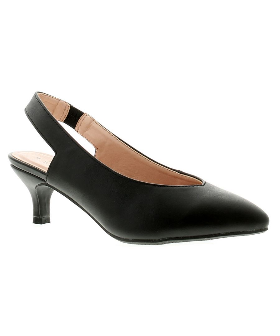 Image for Comfort Plus Kate Womens Ladies Heels Court Shoes Black