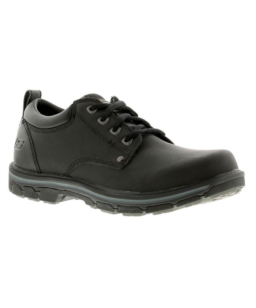 Image for Skechers Segment Rilar Mens Leather Casual Shoes Black