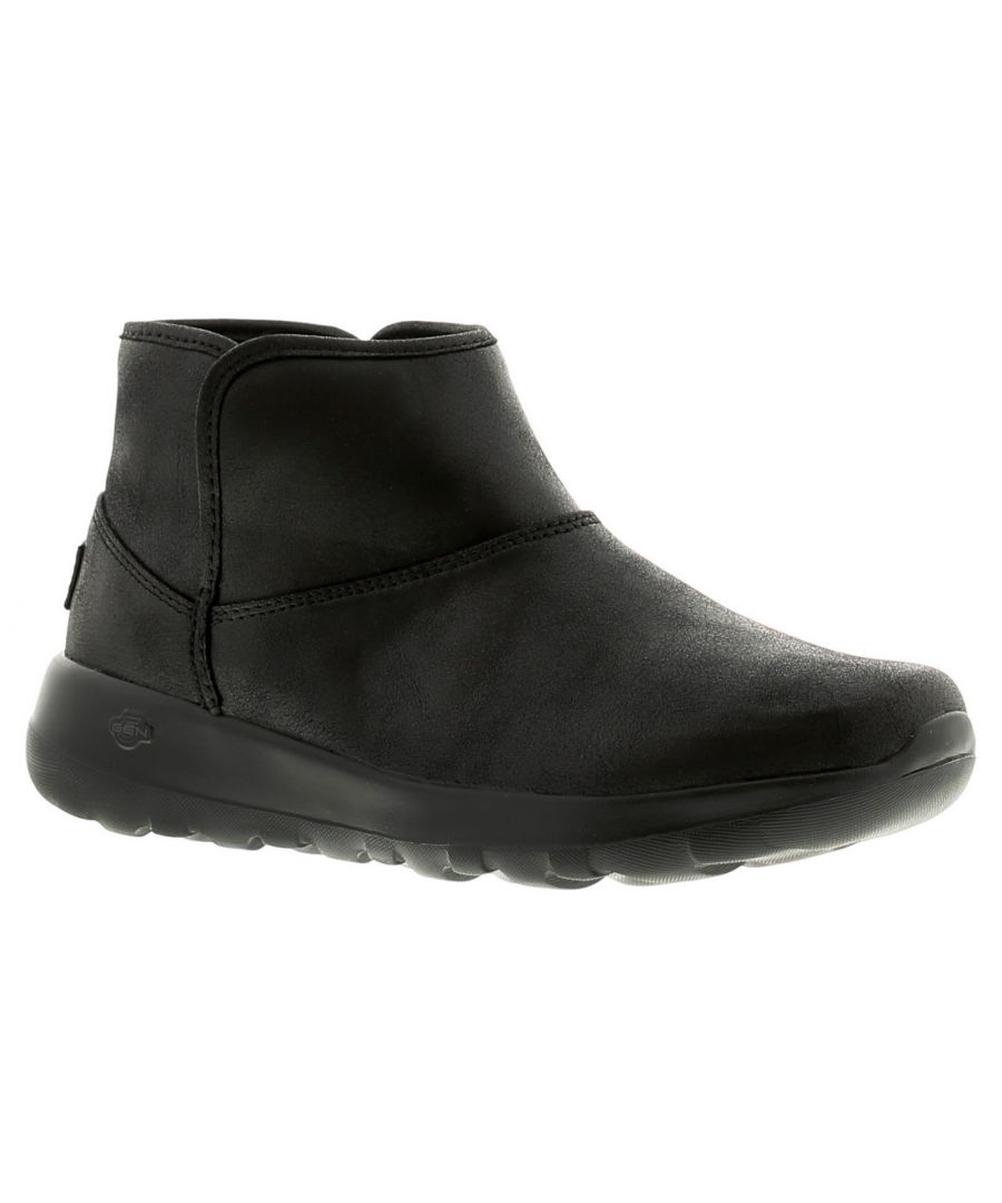 Image for Skechers On The Go Joy Harves Womens Ladies Ankle Boots Black