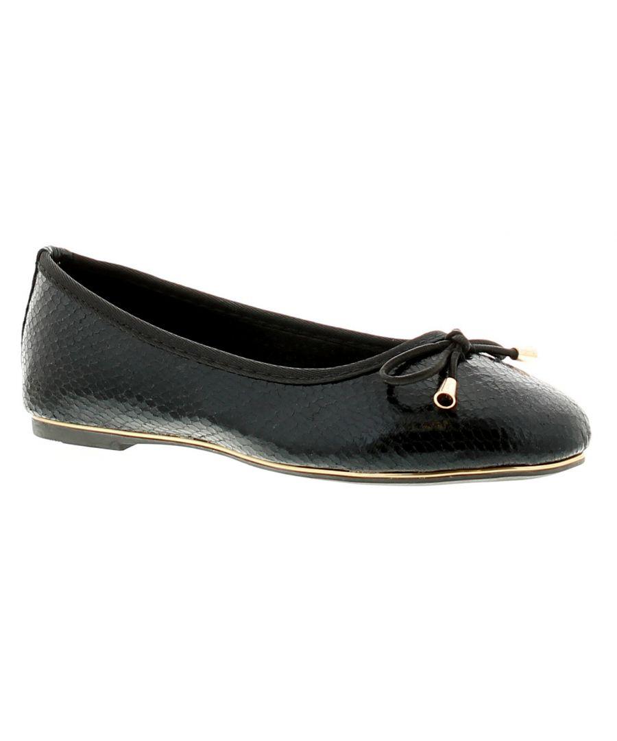 Image for Miss Riot Iris Girls Kids School Shoes Black