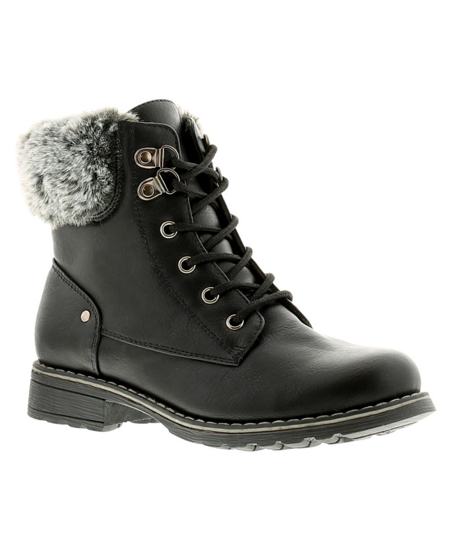 Image for Miss Riot Brandy Girls Kids Ankle Boots Black