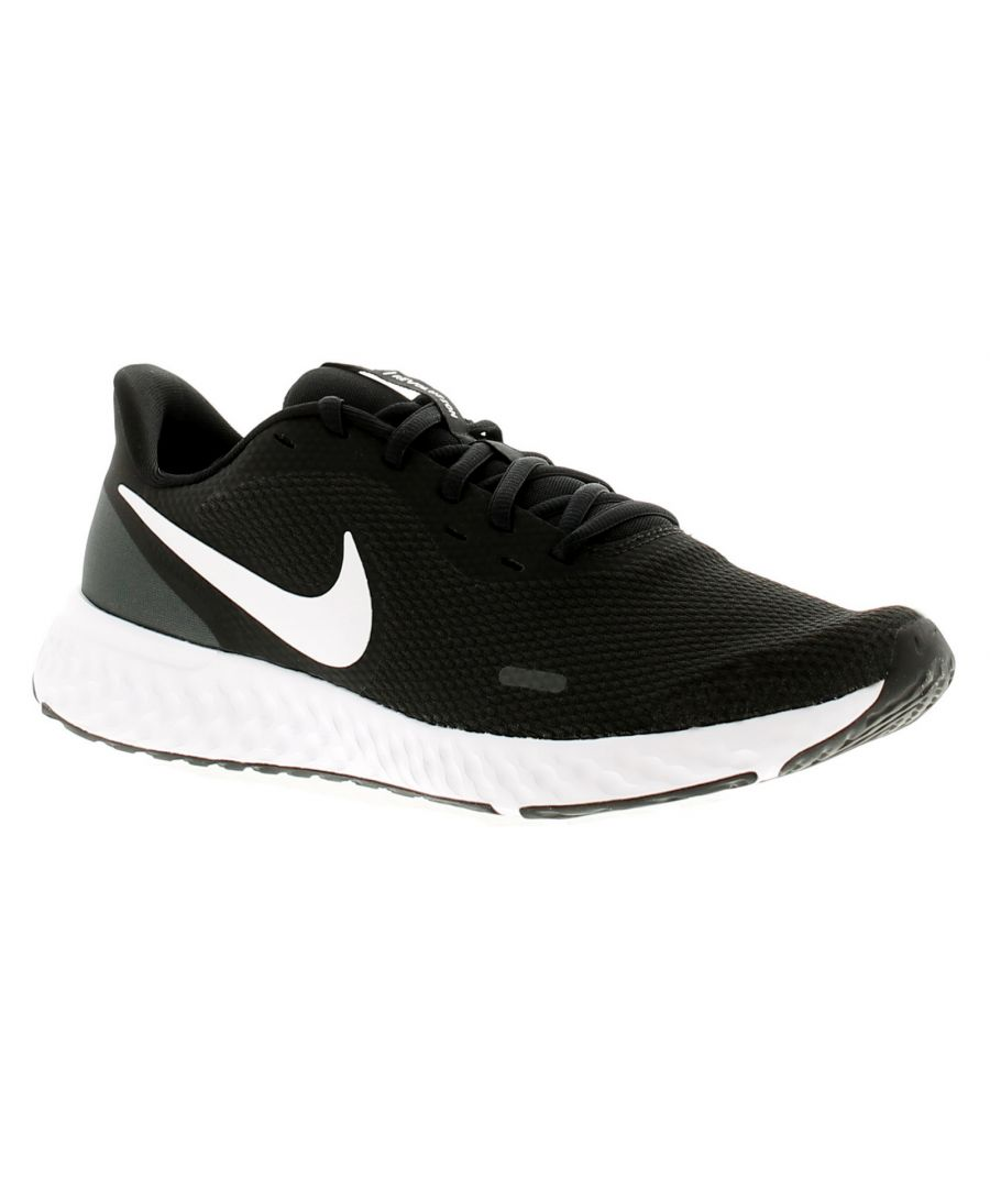 Image for Nike Revolution 5 Mens Running Trainers Gym Shoes Black/White-Anthraci