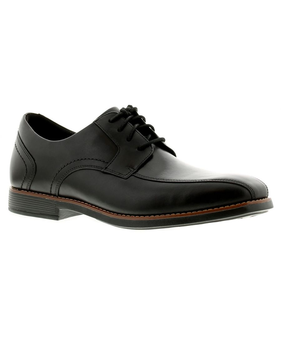 Image for Rockport slayter bike toe leather mens formal shoes black