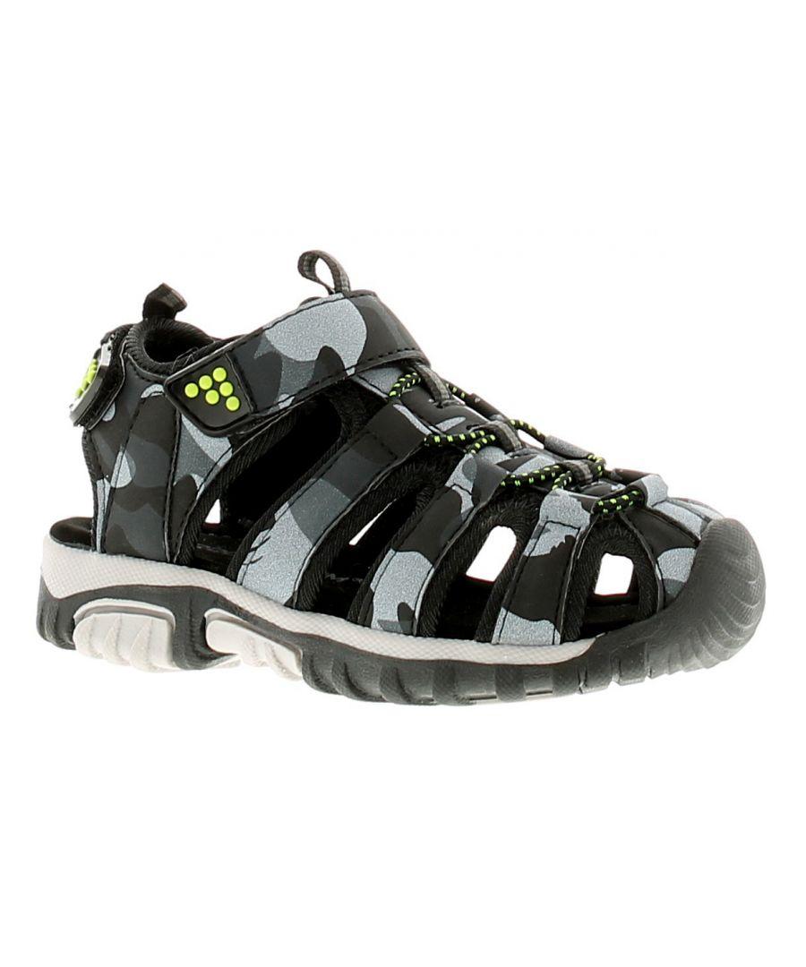 Image for Rockstorm Moses Boys Kids Beach Summer Sandals Black/Grey