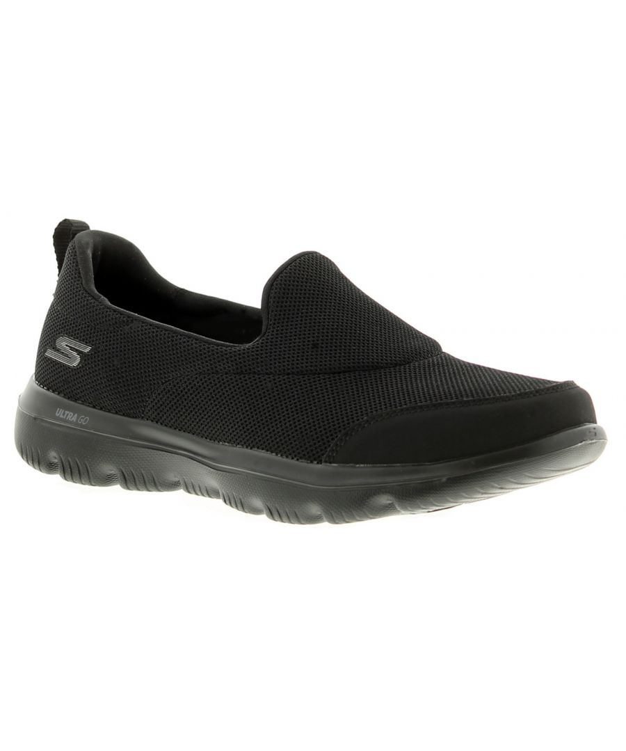Image for Skechers go walk evo womens ladies trainers black
