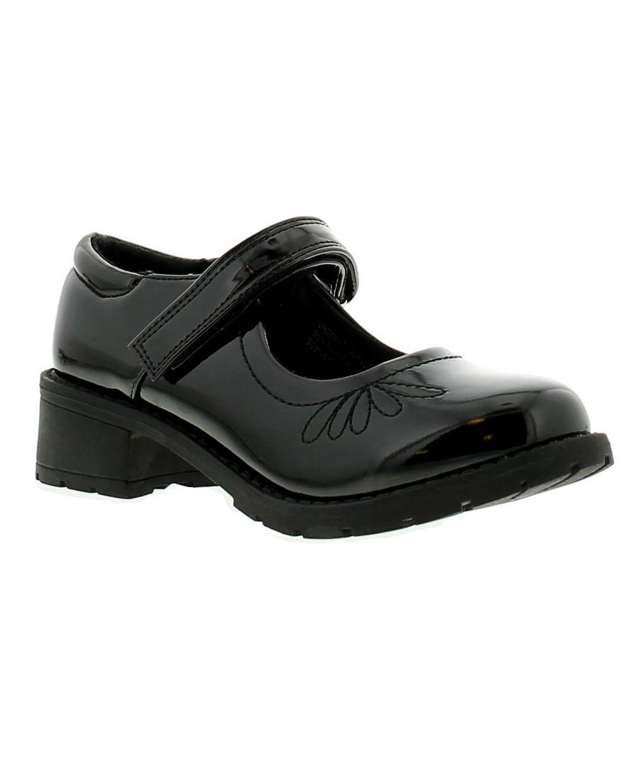 Image for Princess Stardust daisy girls kids school shoes black