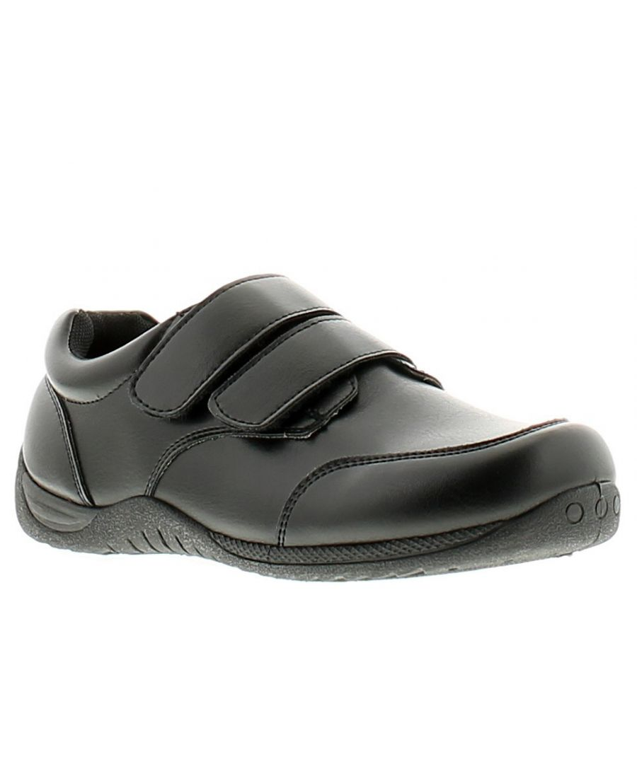 Image for Rockstorm william younger boys school shoes black
