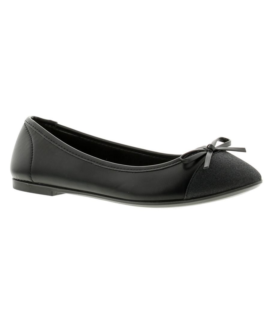 Image for Miss Riot milla girls school shoes black