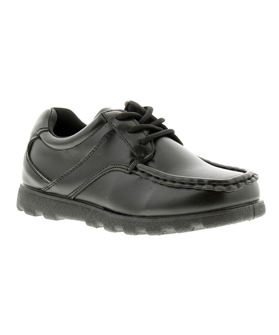 Image for Rockstorm woolley boys kids school shoes black