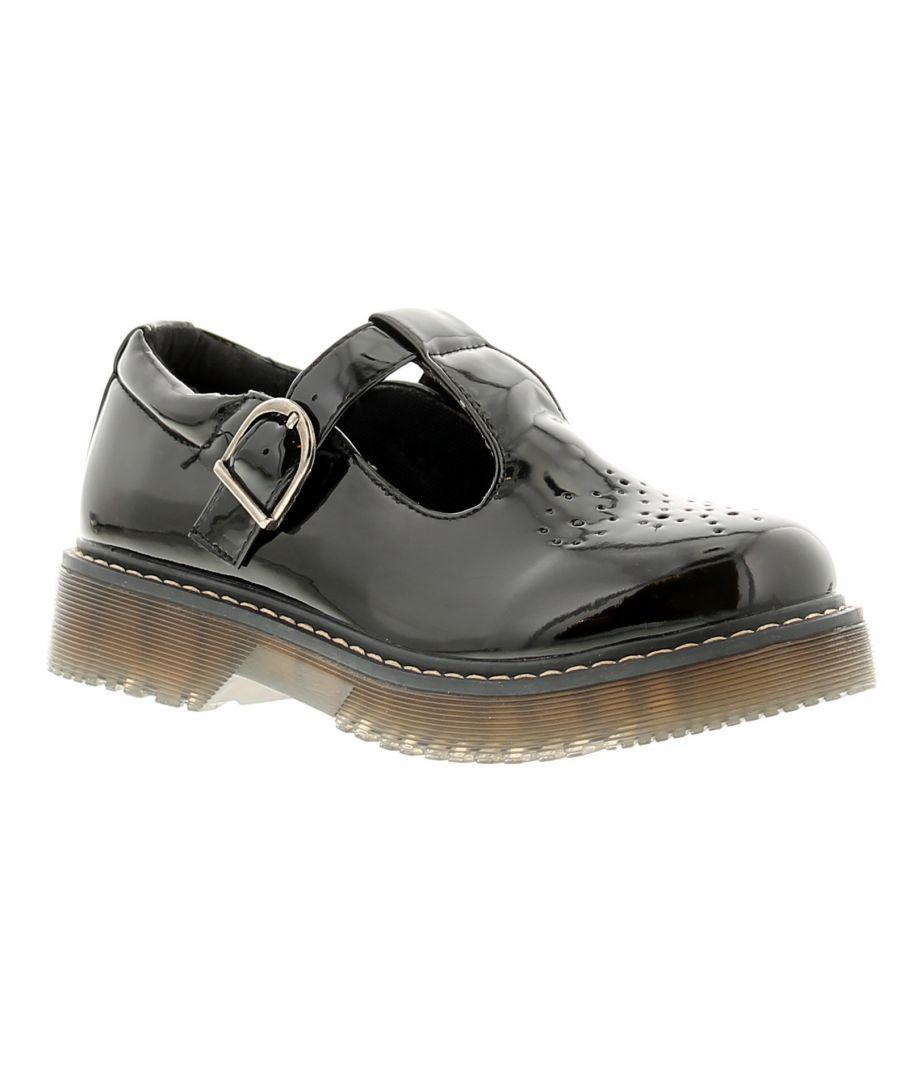 Image for Miss Riot moda girls kids school shoes black