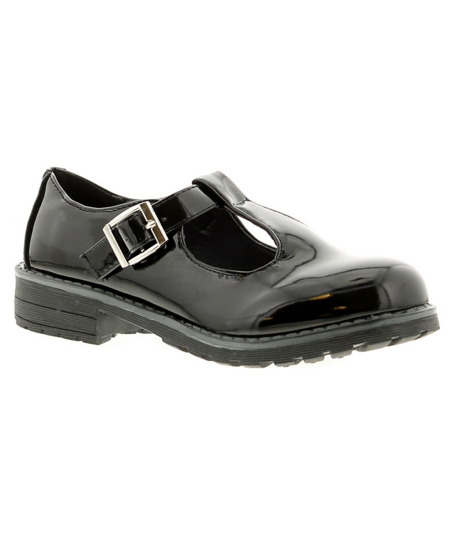 Image for Princess Stardust jess girls kids school shoes black