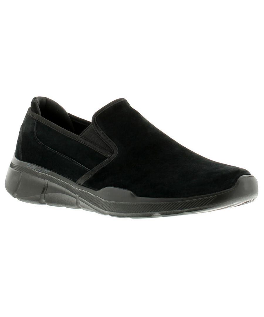 Image for Skechers Equaliser 3.0 Nubuck  Leather Mens Trainers Black