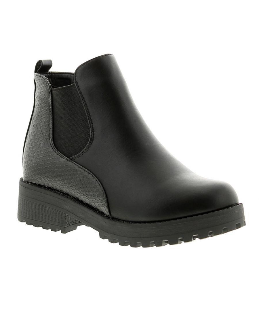 Image for Miss Riot prague girls kids ankle boots black