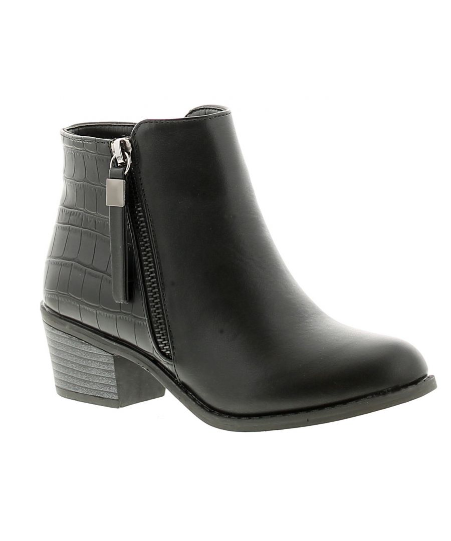 Image for Miss Riot milan girls kids ankle boots black