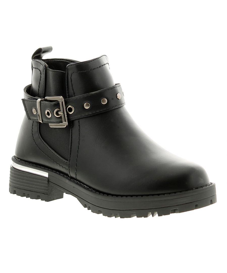 Image for Miss Riot alex girls kids ankle boots black