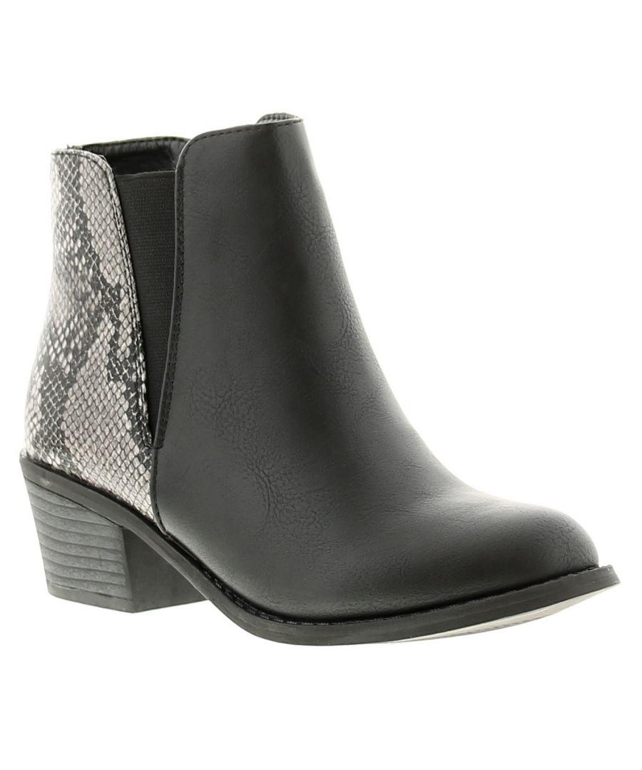 Image for Miss Riot venice womens ladies ankle boots black
