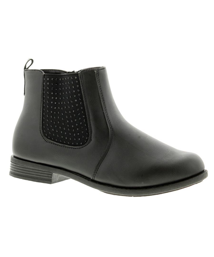 Image for Miss Riot paris girls kids ankle boots black