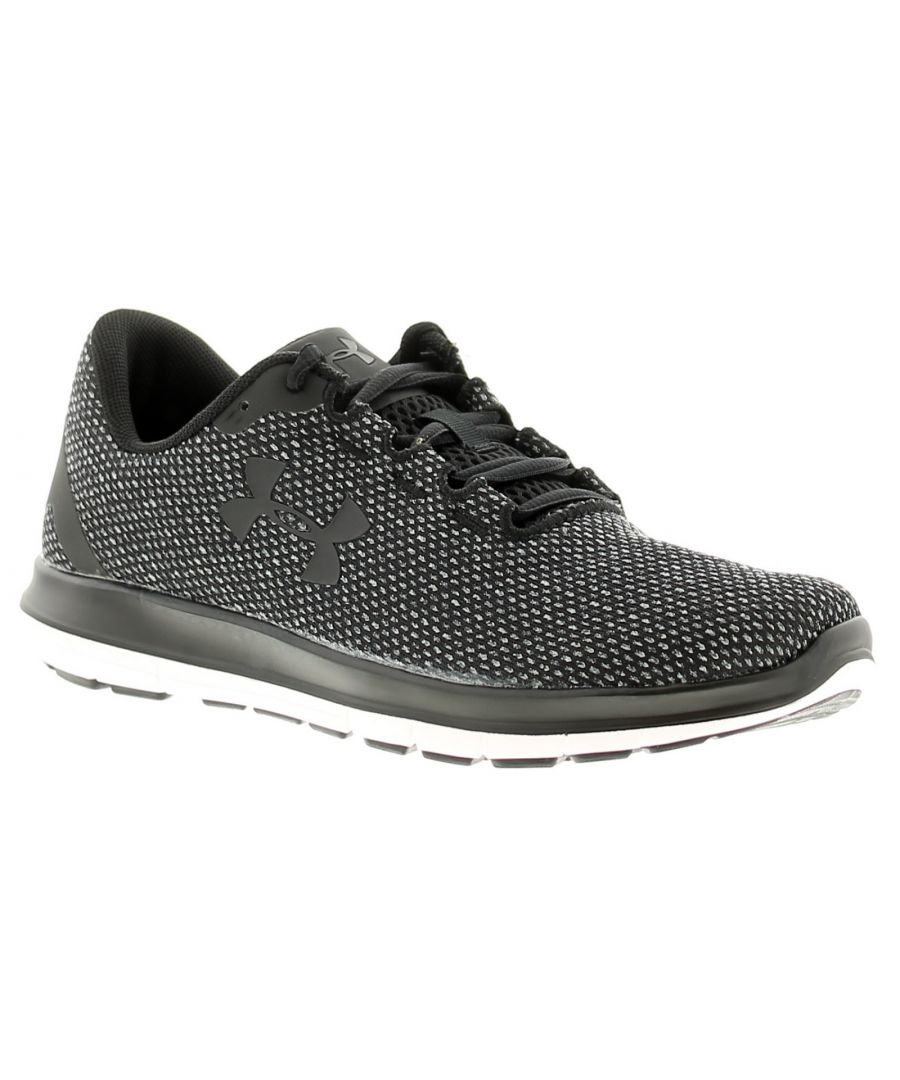Image for Under Armour ua remix womens ladies trainers black/white