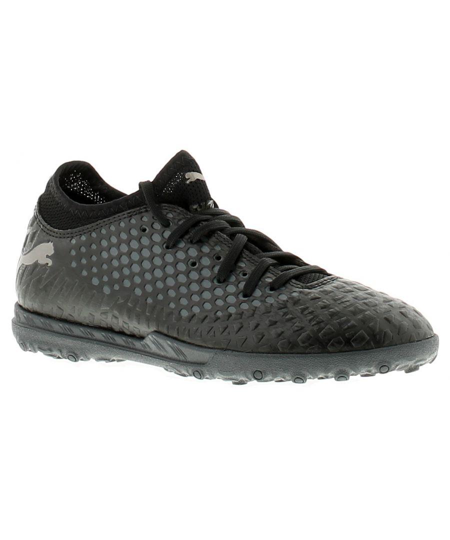Image for Puma pm future older boys football boots trainers black/black