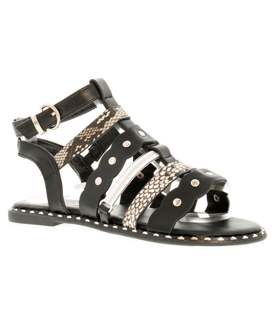 Image for Miss Riot Bessie Older Girls Gladiator Strappy Sandals 13-5