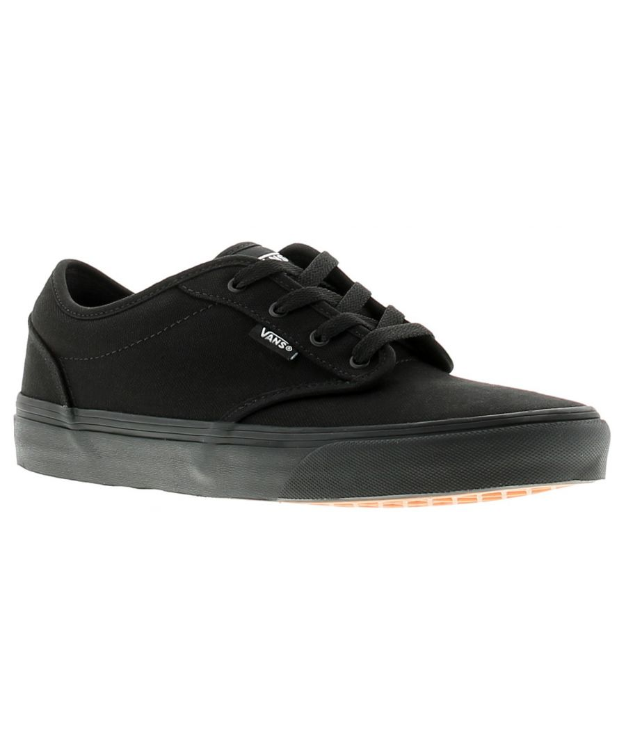 Image for Vans atwood older boys canvas shoes pumps trainers black
