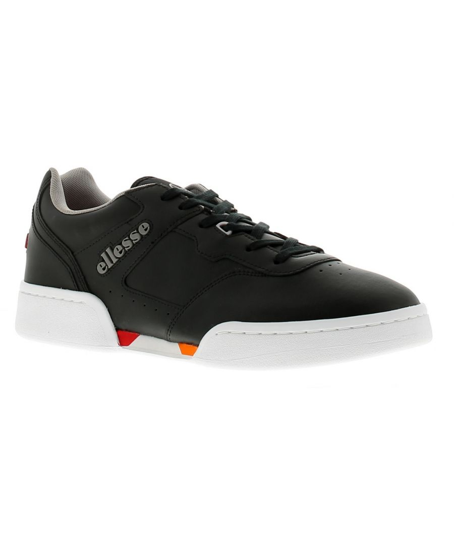 Image for Mens Ellesse Piacentino Leather Upper Trainers With Lace Up Fastening Twin Cupsoles And Perforated S