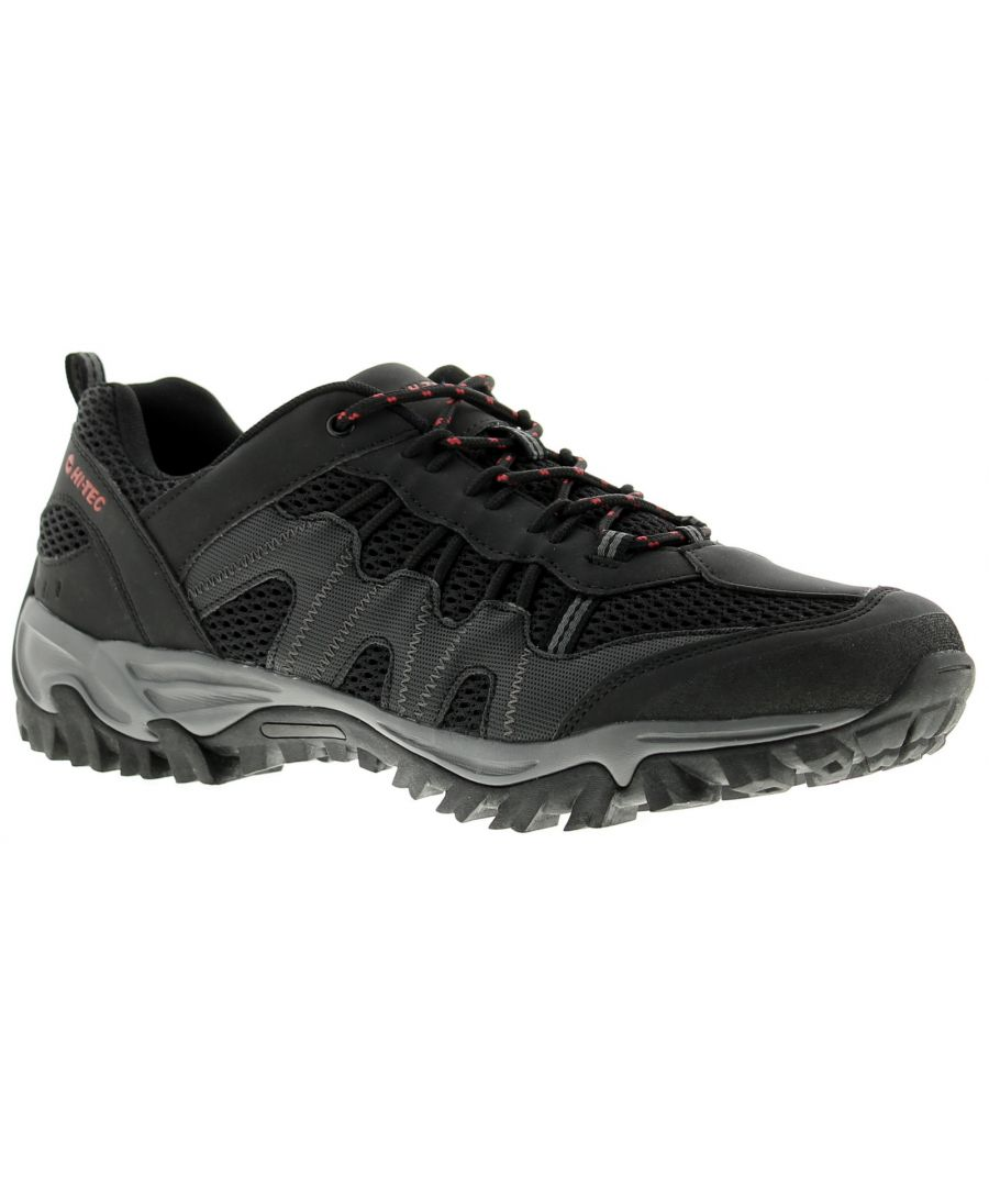 Image for Mens Hi-Tec Jaguar Walking Shoes Synthetic And Mesh Upper Compression Moulded Eva Midsole Carbon Rub