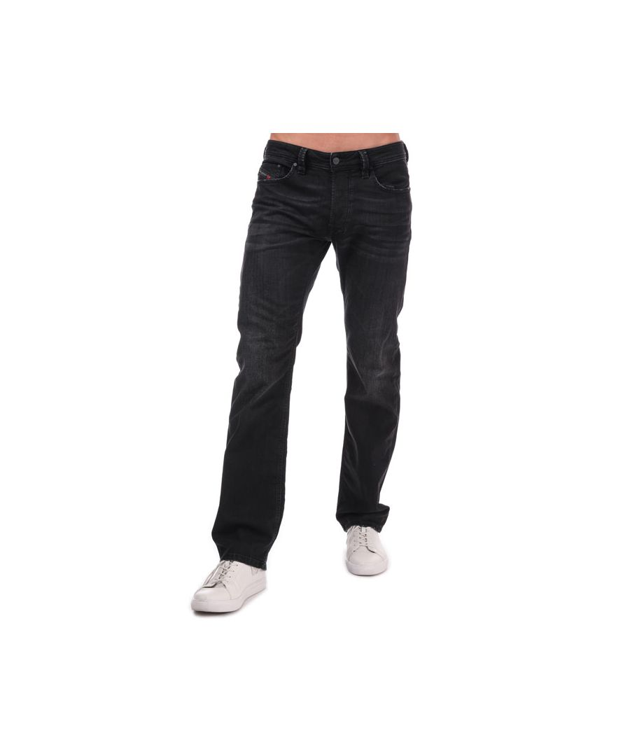 Image for Men's Diesel Larkee Straight Fit Jeans in Black